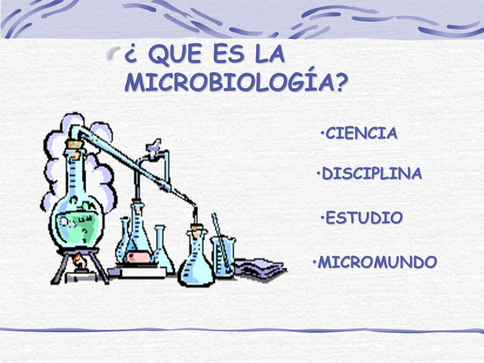 ¿ QUE ES LA MICROBIOLOGÍA