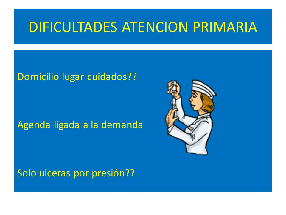 DIFICULTADES ATENCION PRIMARIA