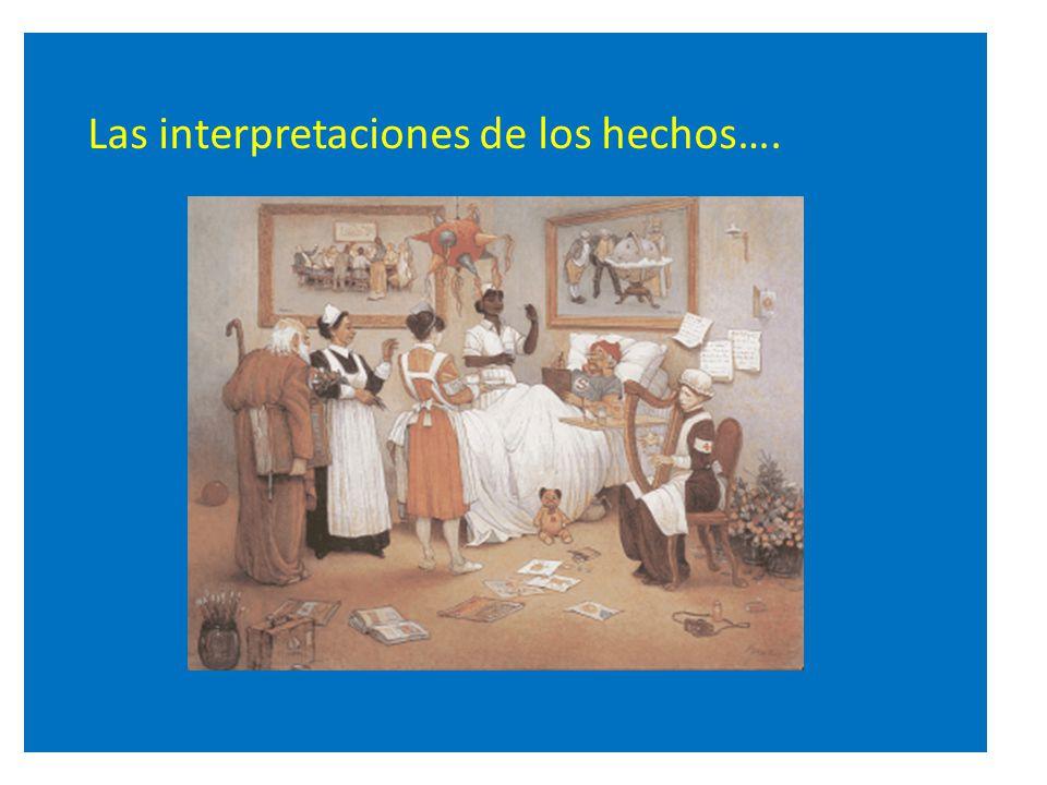 Las interpretaciones de los hechos….