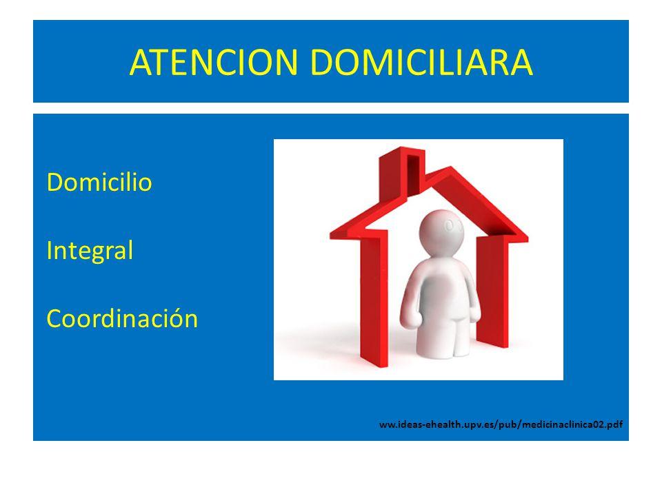 ATENCION DOMICILIARA Domicilio Integral Coordinación