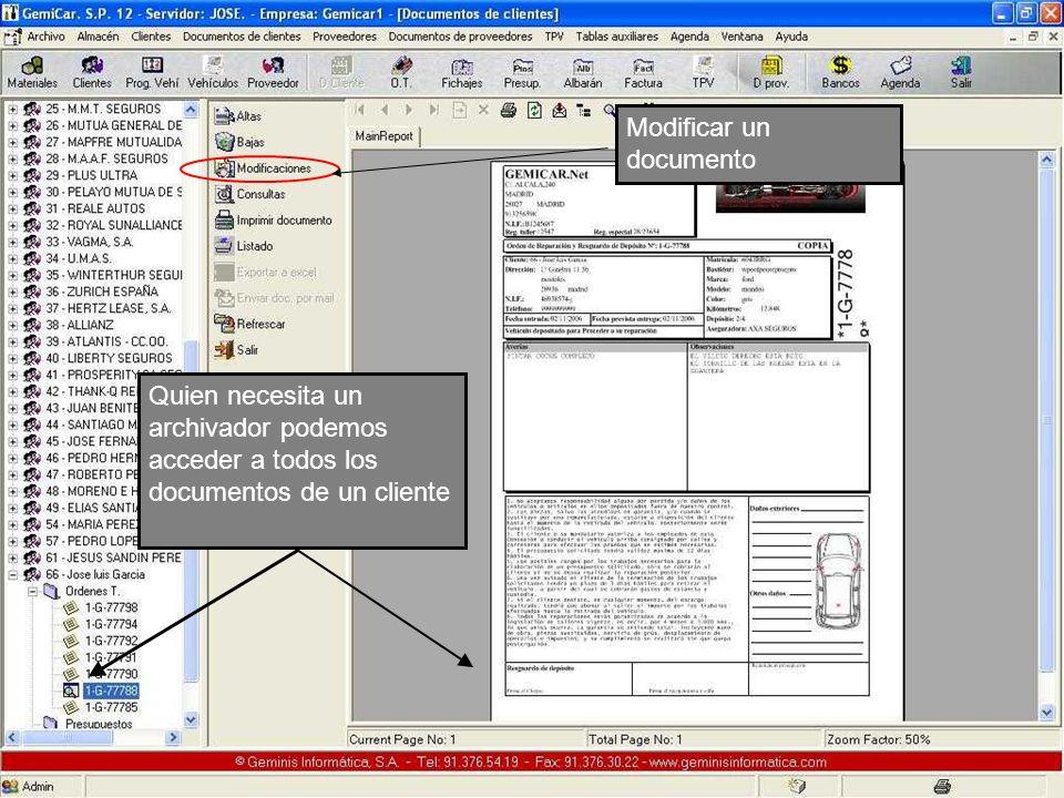 Modificar un documento