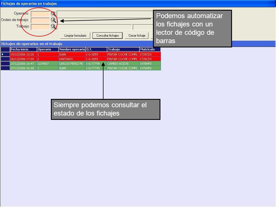 Podemos automatizar los fichajes con un lector de código de barras