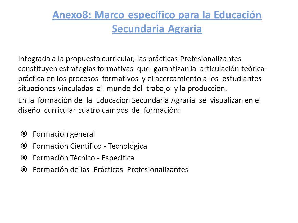 Anexo8: Marco específico para la Educación Secundaria Agraria