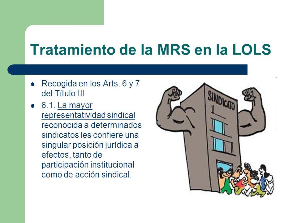 Tratamiento de la MRS en la LOLS