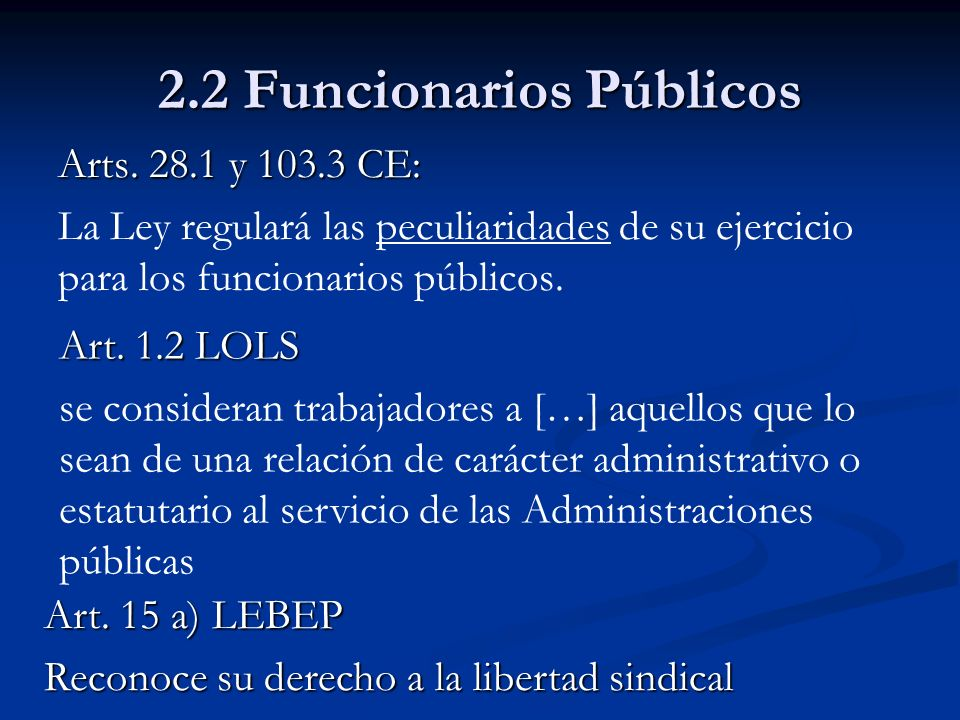 2.2 Funcionarios Públicos