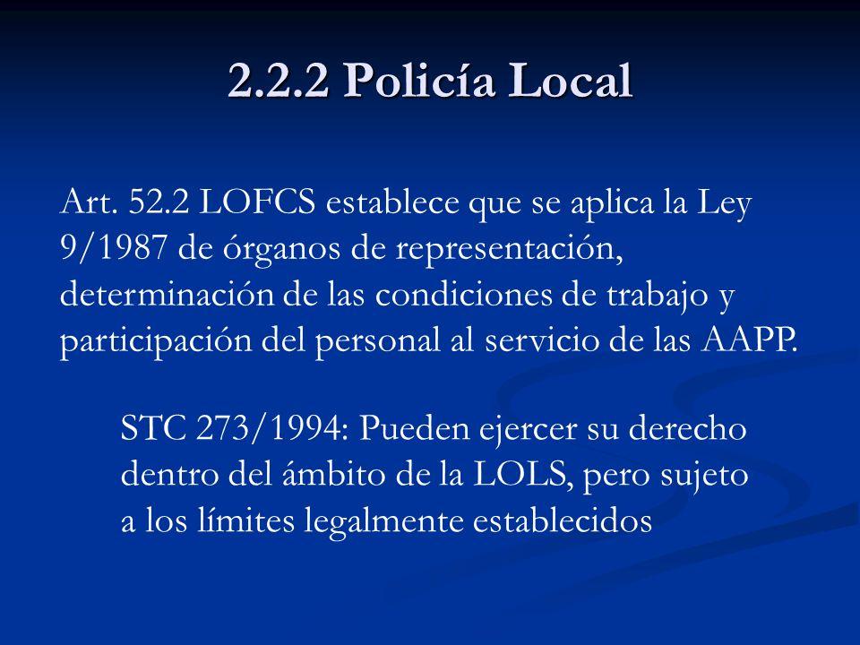 2.2.2 Policía Local
