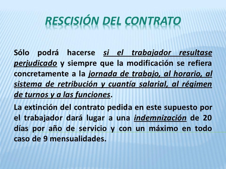RESCISIÓN DEL CONTRATO