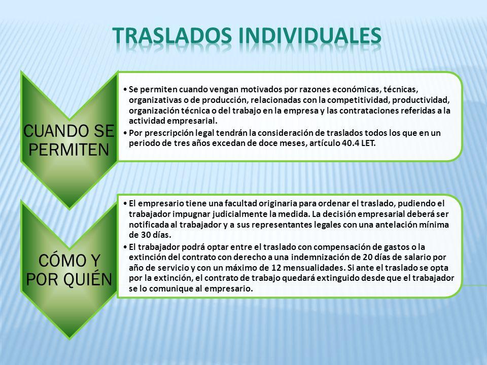 TRASLADOS INDIVIDUALES