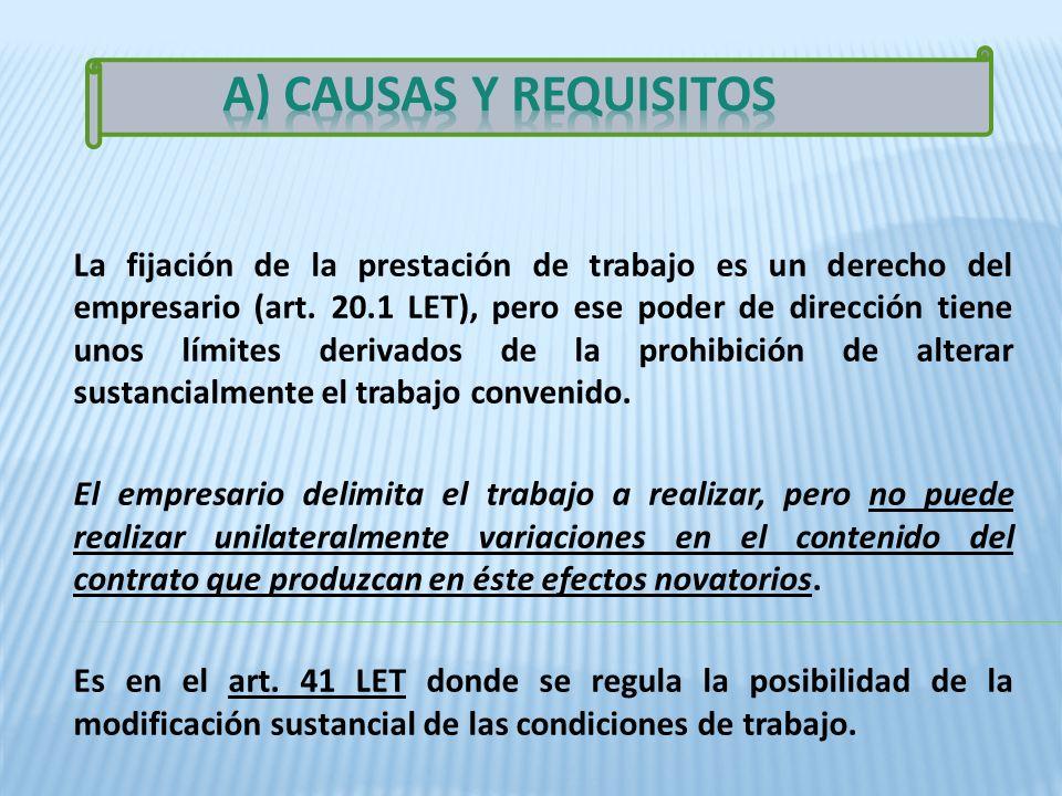 A) CAUSAS Y REQUISITOS