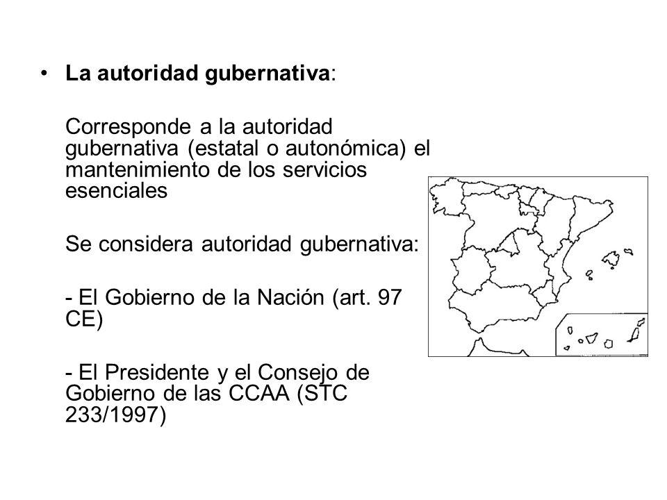 La autoridad gubernativa: