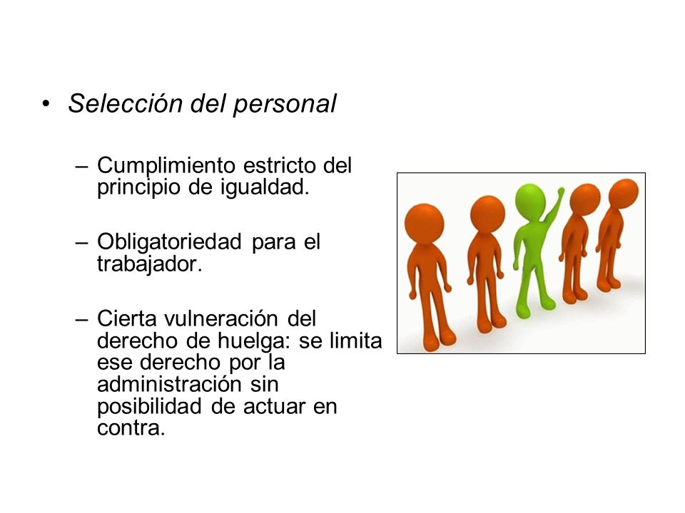 Selección del personal