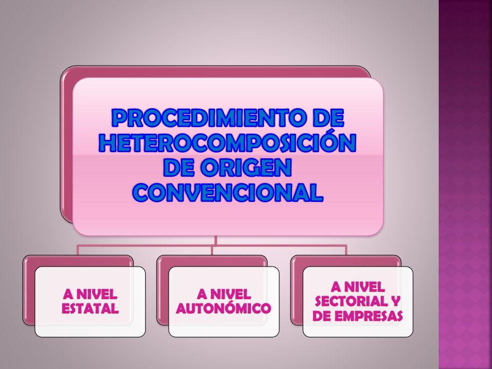 PROCEDIMIENTO DE HETEROCOMPOSICIÓN DE ORIGEN CONVENCIONAL