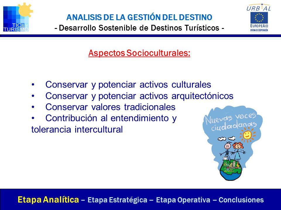 Aspectos Socioculturales: