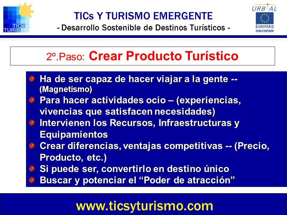2º.Paso: Crear Producto Turístico