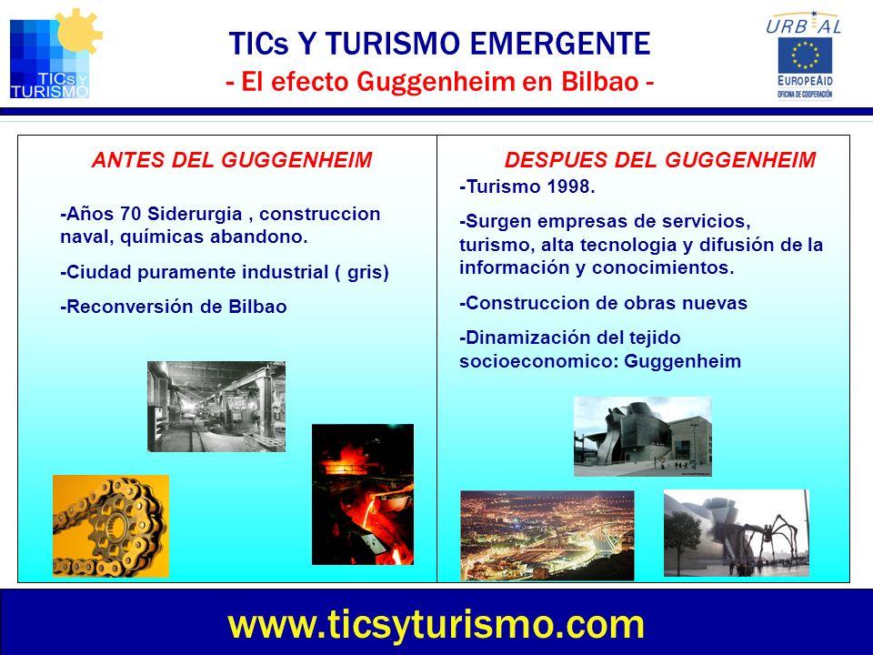 TICs Y TURISMO EMERGENTE - El efecto Guggenheim en Bilbao -