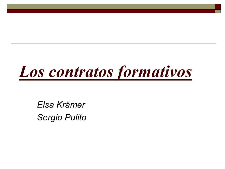 Los contratos formativos