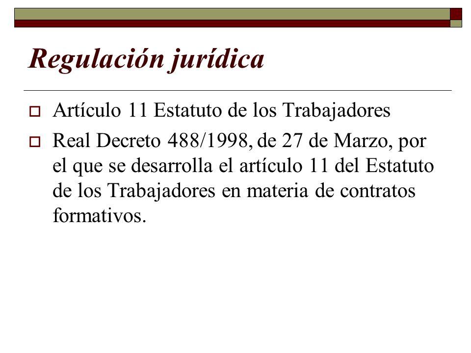 Regulación jurídica Artículo 11 Estatuto de los Trabajadores