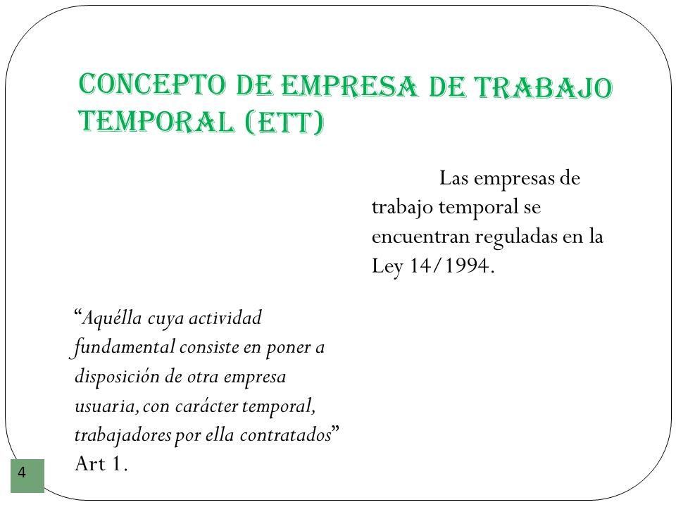 Concepto de Empresa de Trabajo Temporal (ETT)