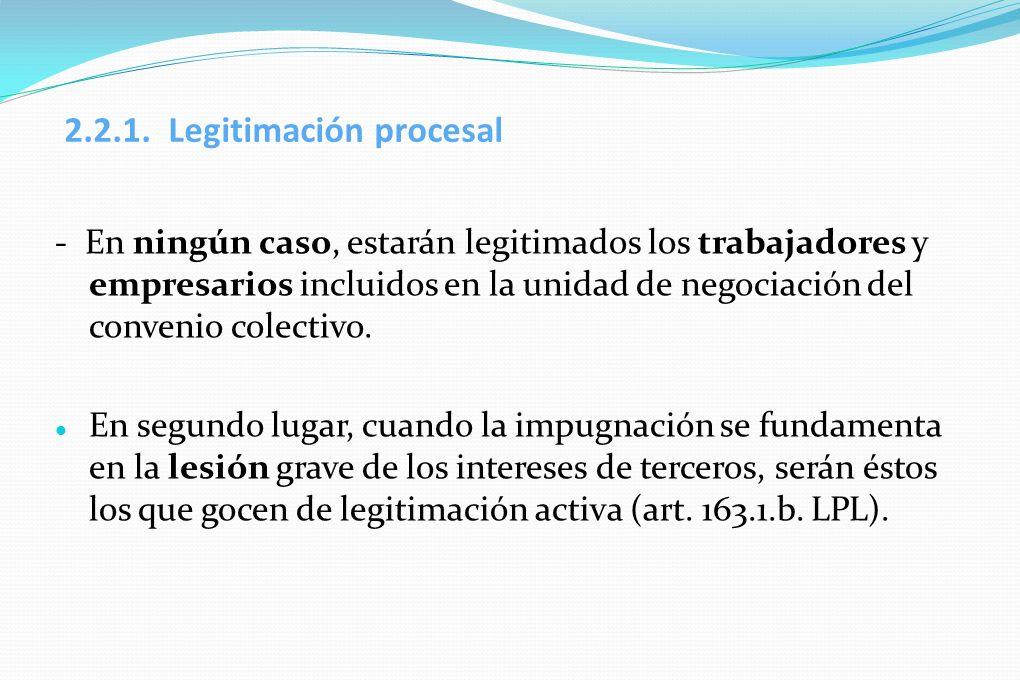 2.2.1. Legitimación procesal
