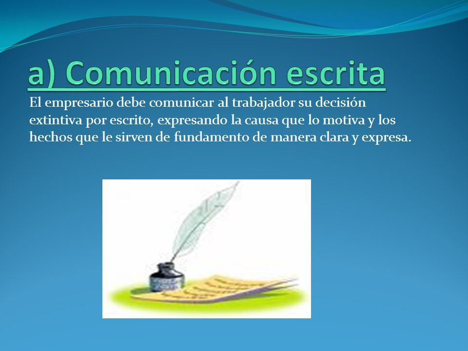 a) Comunicación escrita