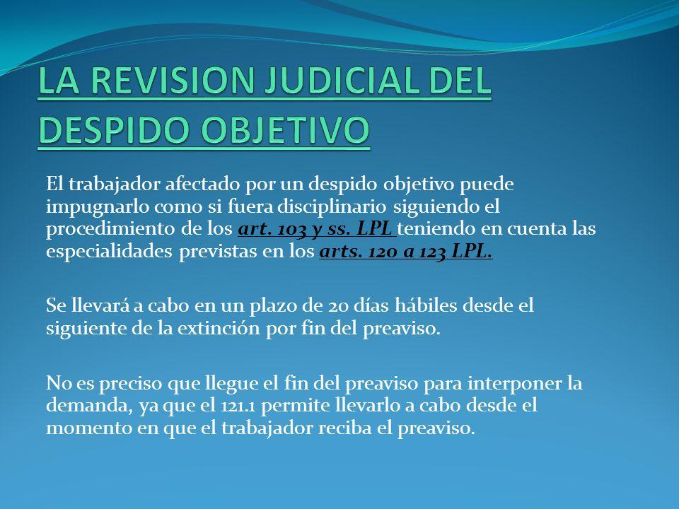 LA REVISION JUDICIAL DEL DESPIDO OBJETIVO