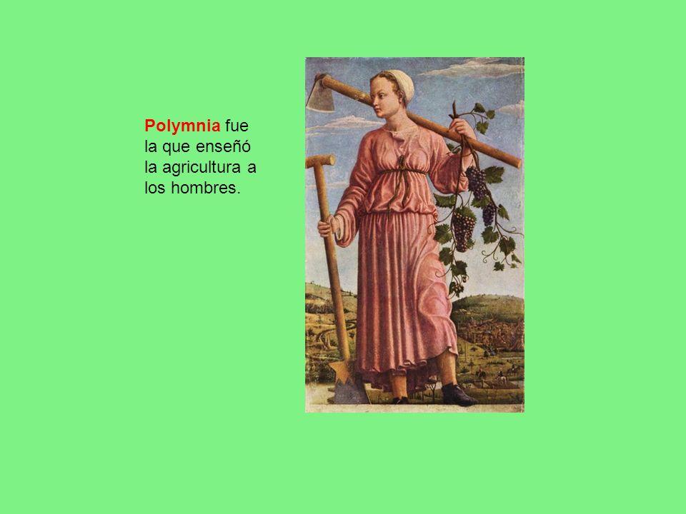 Polymnia fue la que enseñó la agricultura a los hombres.