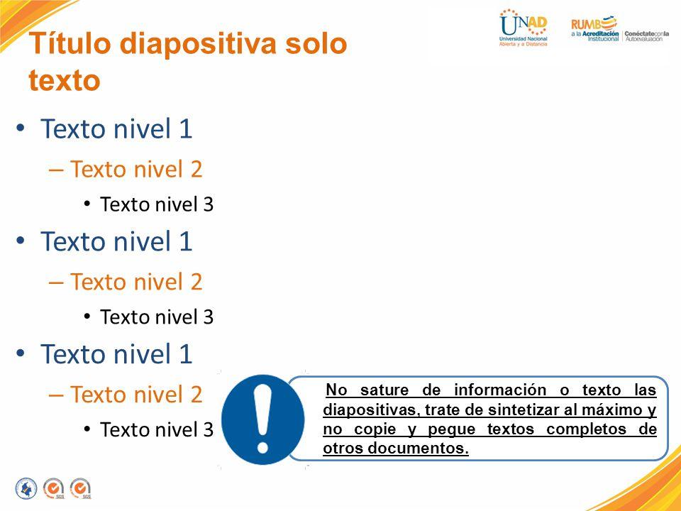 Título diapositiva solo texto