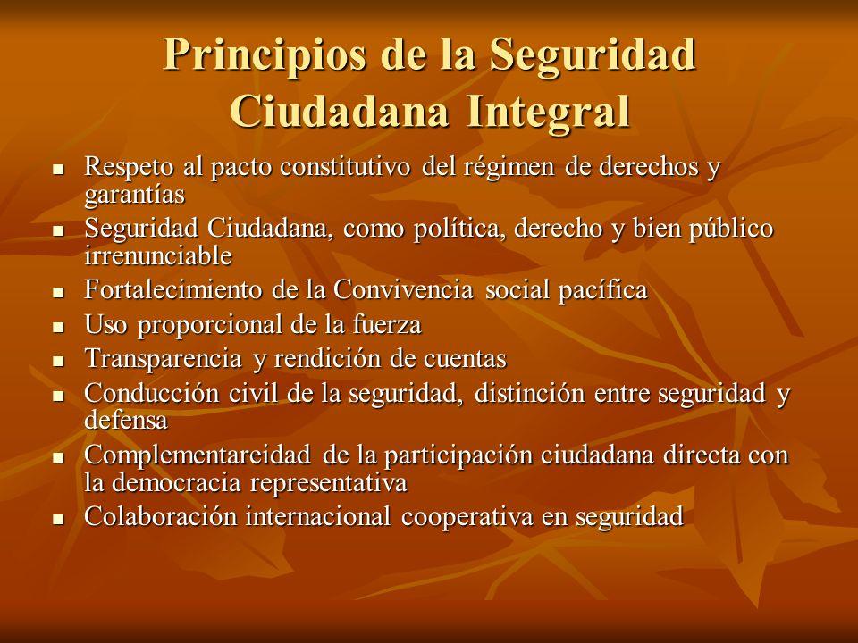 Principios de la Seguridad Ciudadana Integral