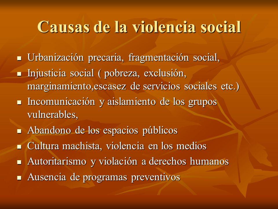 Causas de la violencia social