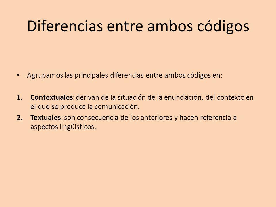 Diferencias entre ambos códigos