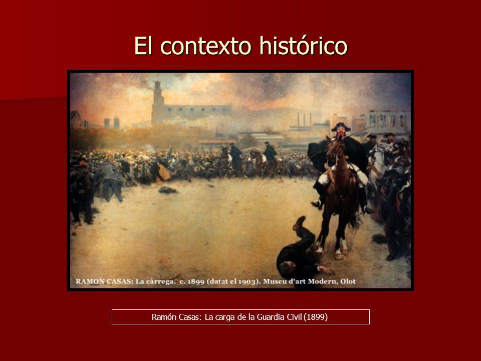 El contexto histórico Ramón Casas: La carga de la Guardia Civil (1899)
