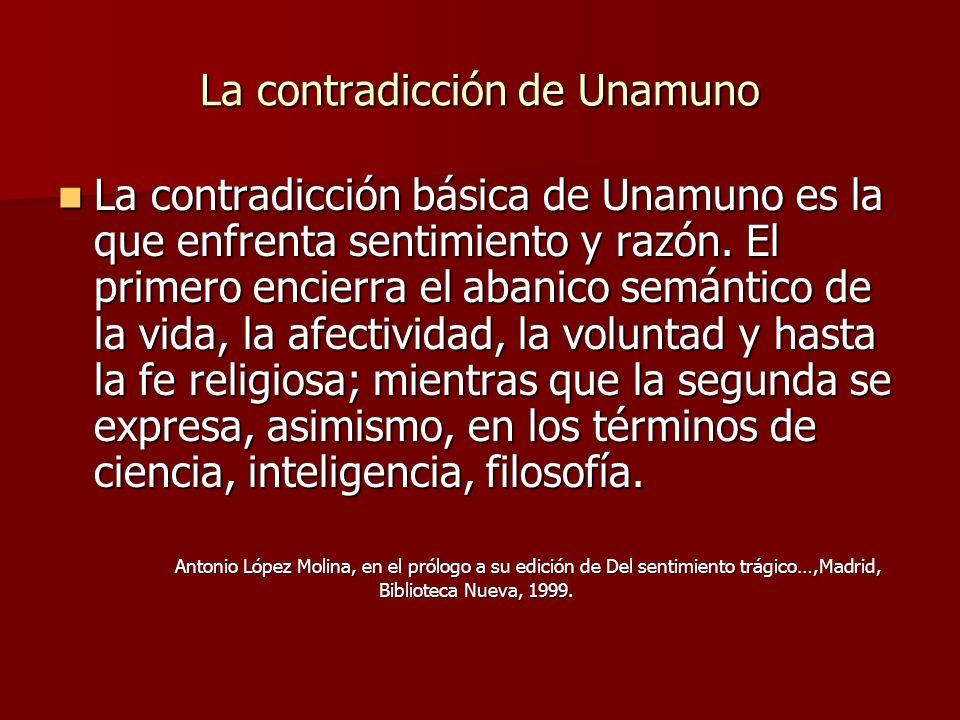 La contradicción de Unamuno