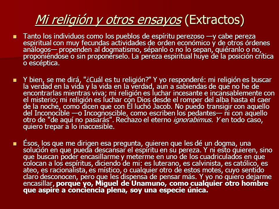 Mi religión y otros ensayos (Extractos)