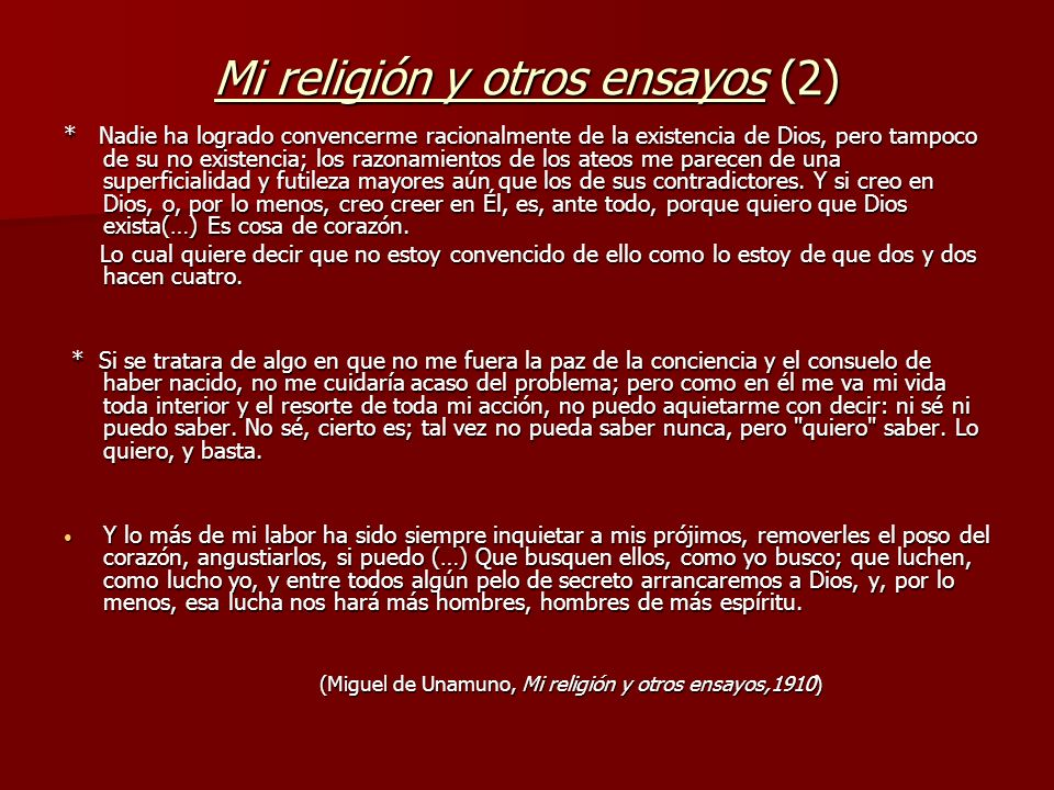 Mi religión y otros ensayos (2)