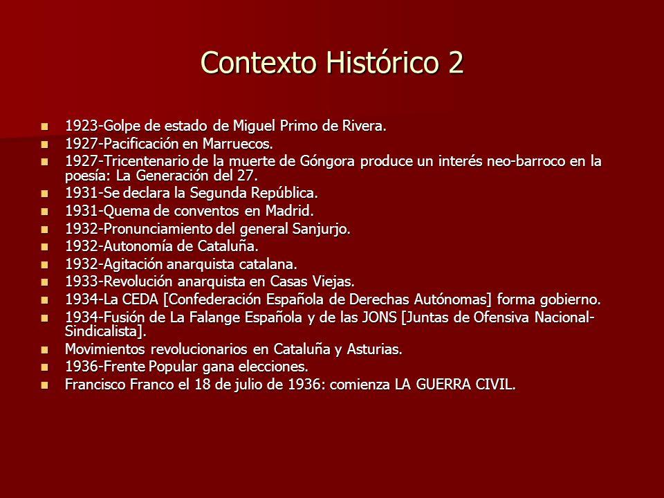 Contexto Histórico 2 1923-Golpe de estado de Miguel Primo de Rivera.