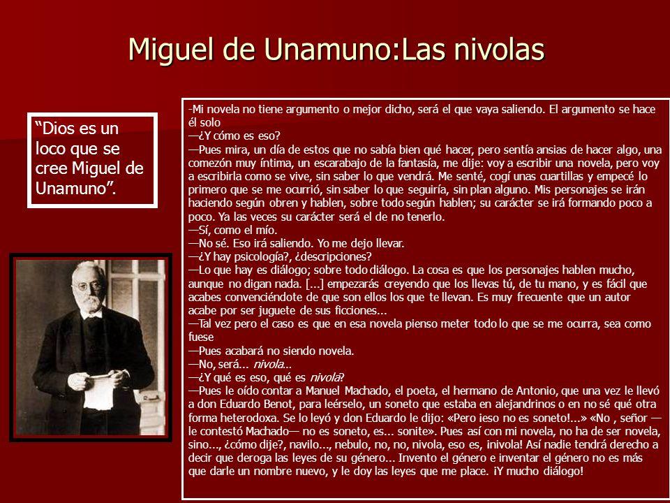 Miguel de Unamuno:Las nivolas