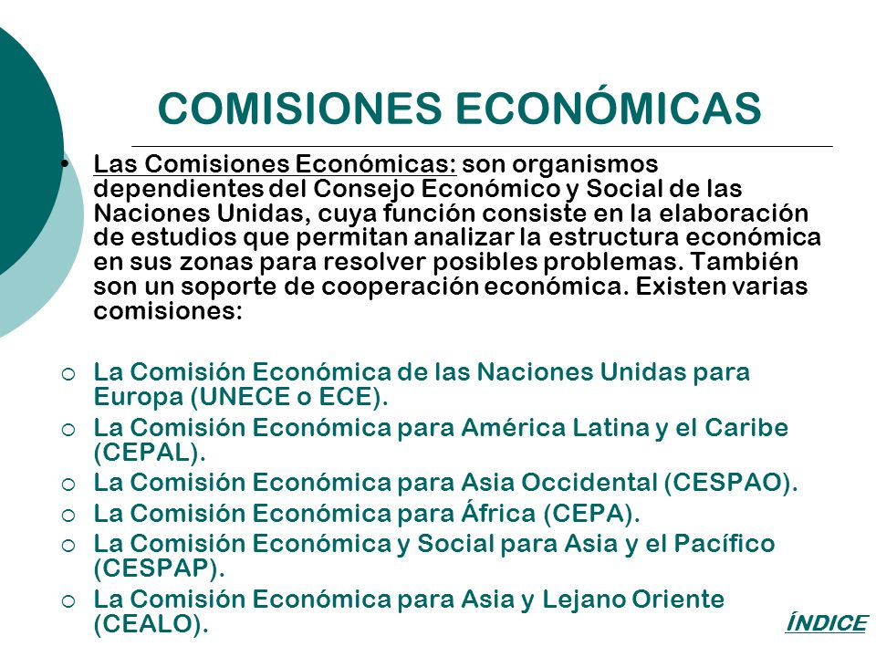 COMISIONES ECONÓMICAS