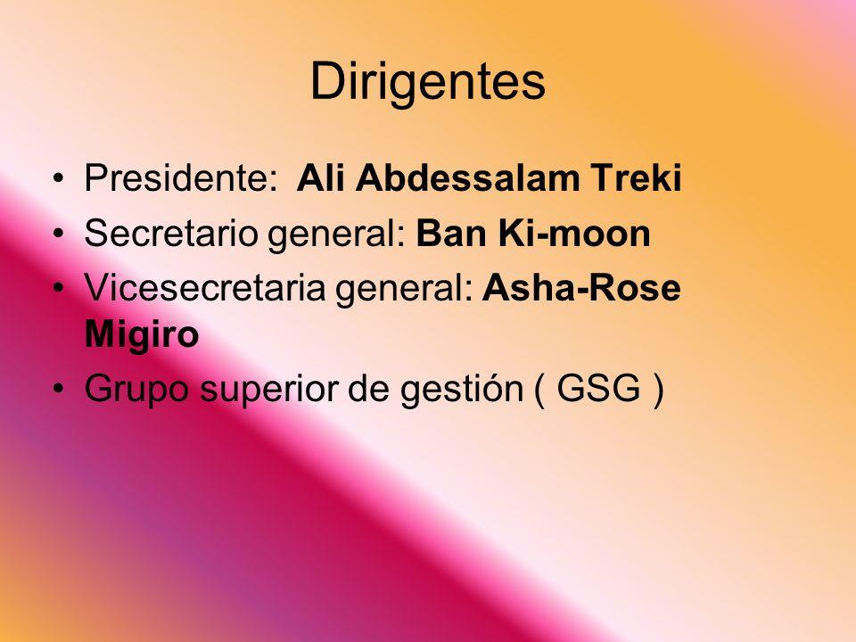 Dirigentes Presidente: Ali Abdessalam Treki