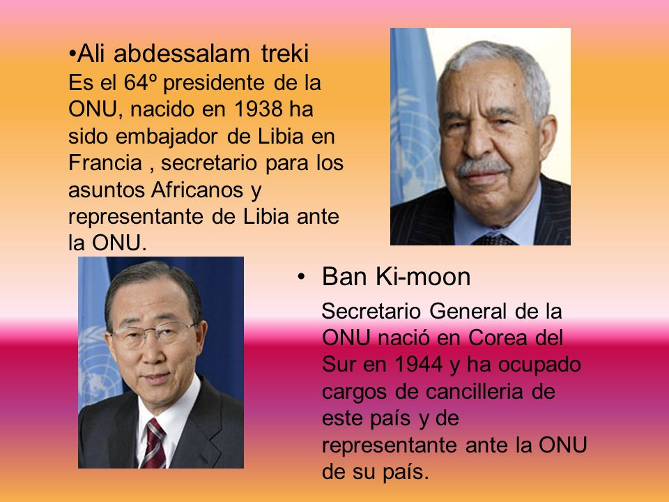 Ali abdessalam treki Ban Ki-moon