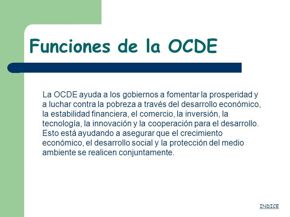Funciones de la OCDE