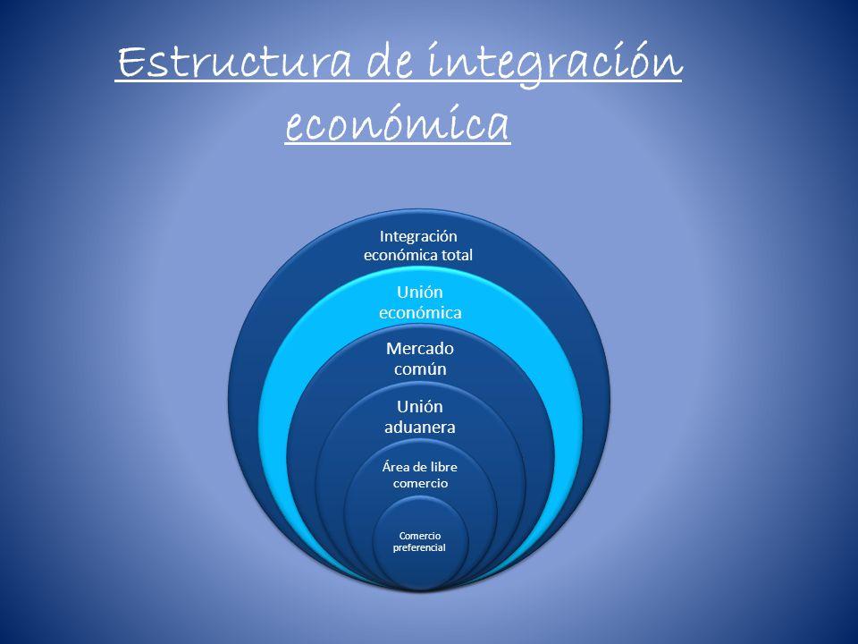 Estructura de integración económica