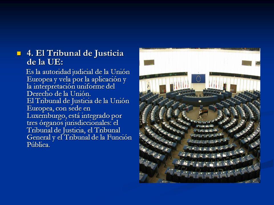 4. El Tribunal de Justicia de la UE: