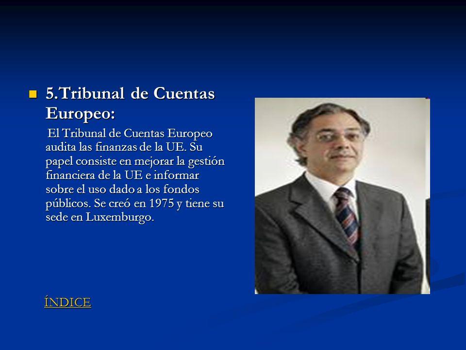 5.Tribunal de Cuentas Europeo: