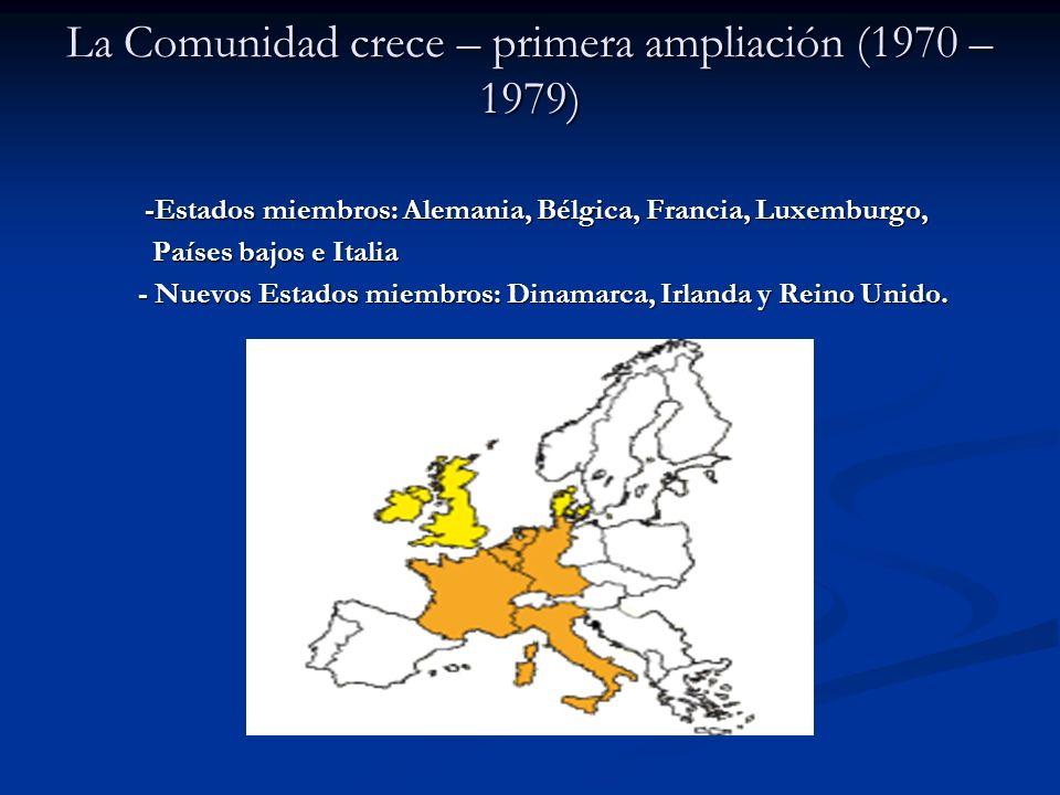 La Comunidad crece – primera ampliación (1970 – 1979)
