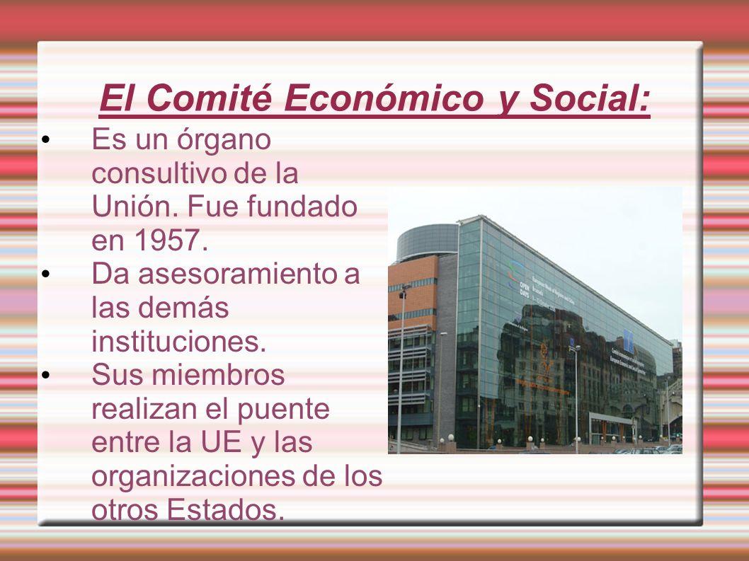 El Comité Económico y Social:
