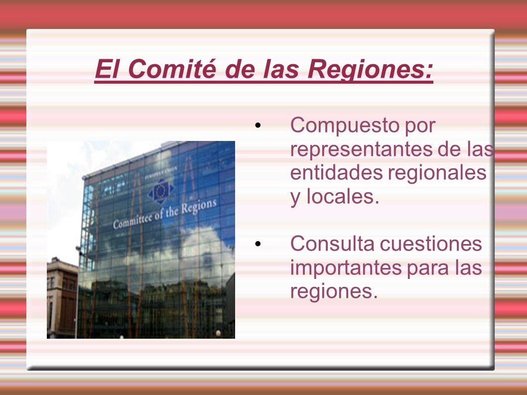 El Comité de las Regiones: