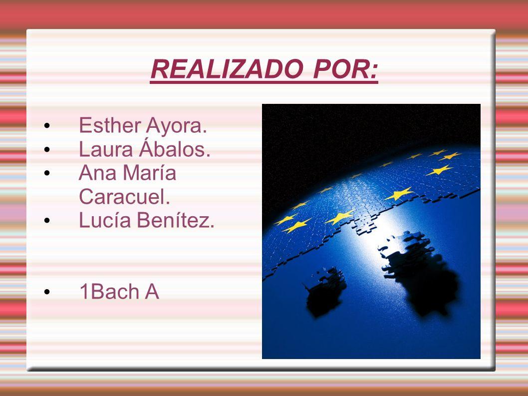 REALIZADO POR: Esther Ayora. Laura Ábalos. Ana María Caracuel.