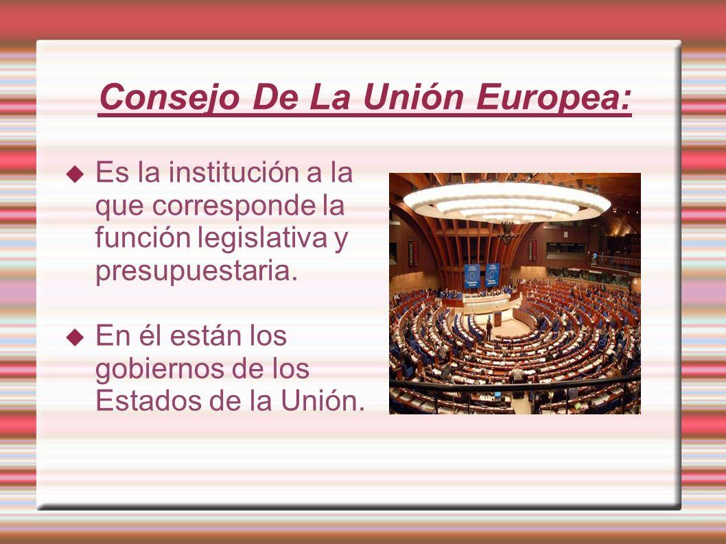 Consejo De La Unión Europea: