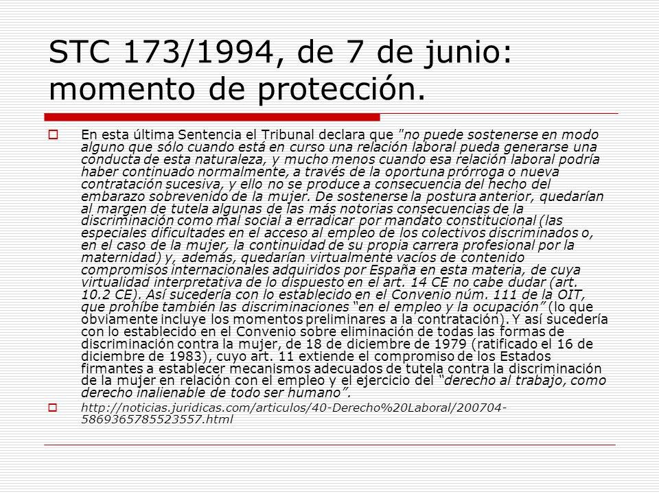 STC 173/1994, de 7 de junio: momento de protección.