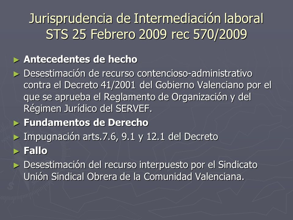 Jurisprudencia de Intermediación laboral STS 25 Febrero 2009 rec 570/2009